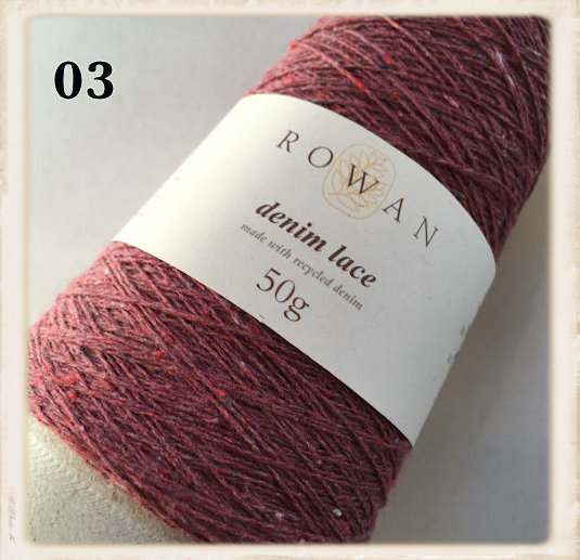 rowan denim lace umbria red